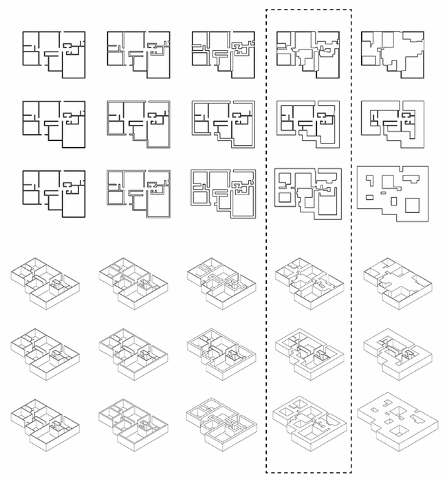 Growth Series: This series looks at the expansion of the suburban house through various methods and increments. These tests explore the limit to which the suburban house can grow before it meets its threshold, or