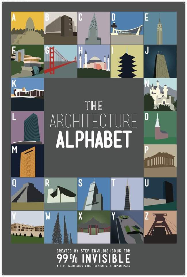 The Architecture Alphabet via 99% Invisible
