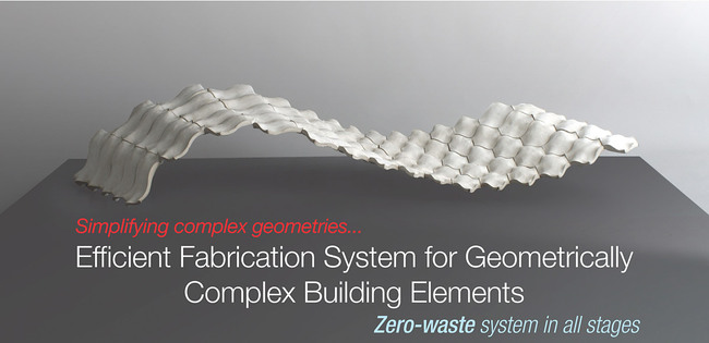 Global Holcim Innovation 3rd prize 2012: Efficient fabrication system for geometrically complex building elements, London, UK by Povilas Cepaitis, AA School of Architecture, United Kingdom in collaboration with LLuis Enrique, Diego Ordoñez and Carlos Piles, AA School of Architecture, United Kingdom: Simplifying complex geometries. (Image © Holcim Foundation)