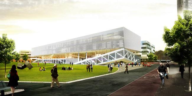 Exterior rendering (Image: OYO + office9 + Ingenium)