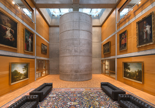 Interior view of the Library Court at the Yale Center for British Art after Knight Architecture's 16-month renovation. (Photo: Richard Caspole, courtesy of Yale Center for British Art)
