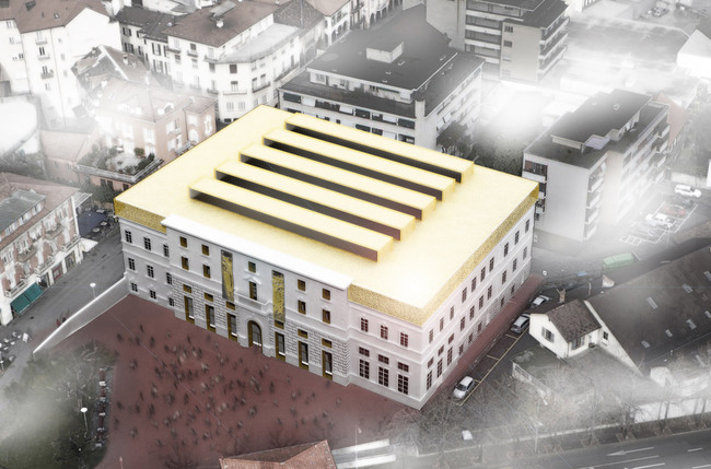 "Rendering of the winning design ""Palazzo del Cinema di Locarno"" (Image: Alejandro Zaera-Polo Architecture)"