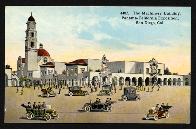 The Machinery Building, Panama California Exposition, image via Wolfsonian–Florida International University.