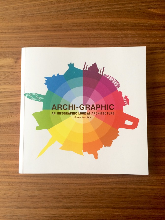 """Archi-Graphic: An Infographic Look at Architecture"" By Frank Jacobus. Published by Laurence King Publishing. Photo: Justine Testado."