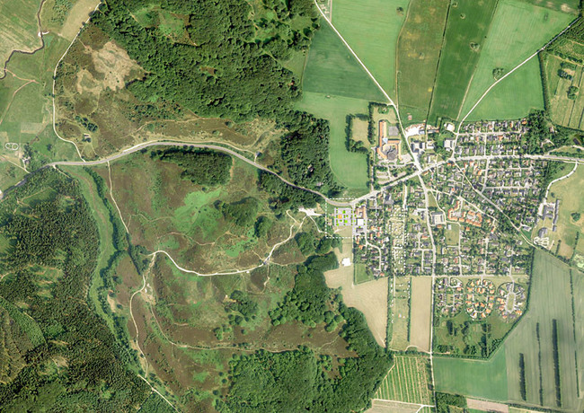 Aerial view of the area (Image: CEBRA)