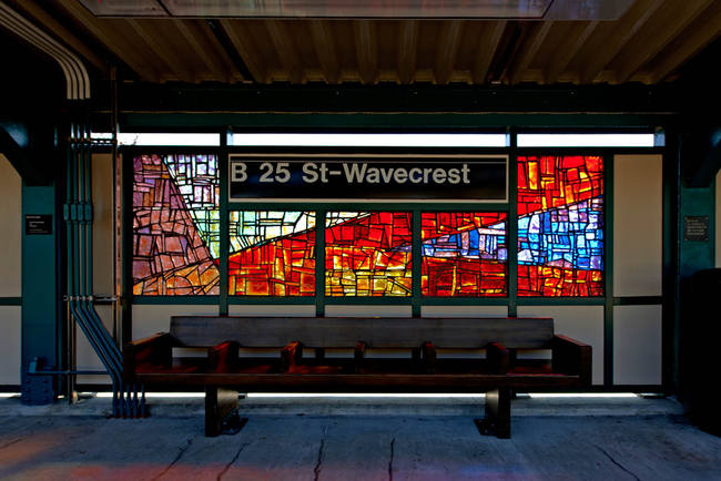 'Past/Present/Future' ©2012, Mauricio Lopez. Commissioned by the Metropolitan Transportation Authority, Arts for Transit and Urban Design