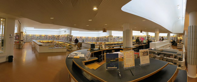 Panorma of the Regional Library of Lapland.