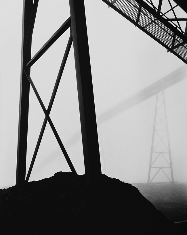 CSR Series, BBC Mine No. 2, Conveyor Towers, 1981. Silver gelatin print, 33 x 29 in. Courtesy Rosamund Felsen Gallery © Grant Mudford