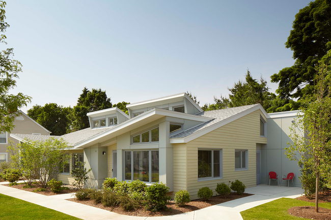 New Accessible Passive Solar Housing; Stoneham, Massachusetts by Abacus Architects + Planners (Photo: Bruce Martin)