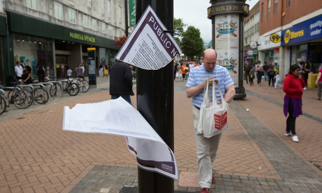 Is Croydon Council's proposed protection order paving the way for North End to become privatised? Photograph: Bradley L Garrett, via theguardian.com.