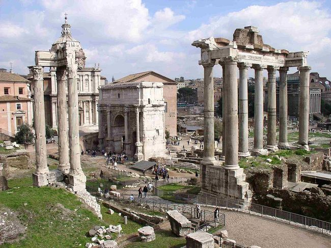 The Roman Forum, via wikimedia.org.