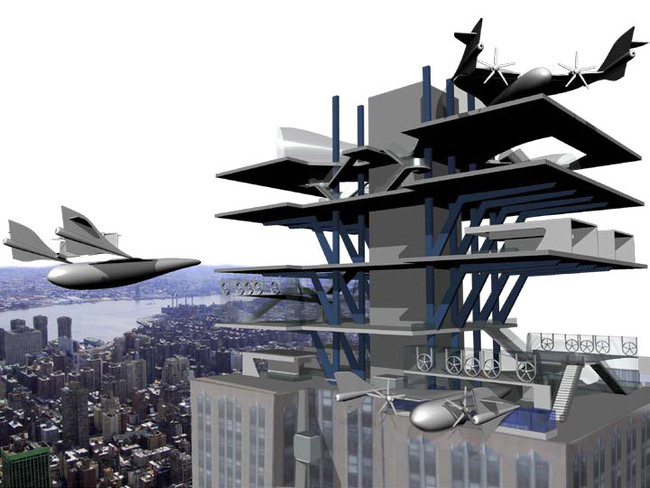 3rd Place: Pocket Airports by Alexander Nevarez, Art Center College of Design, United States