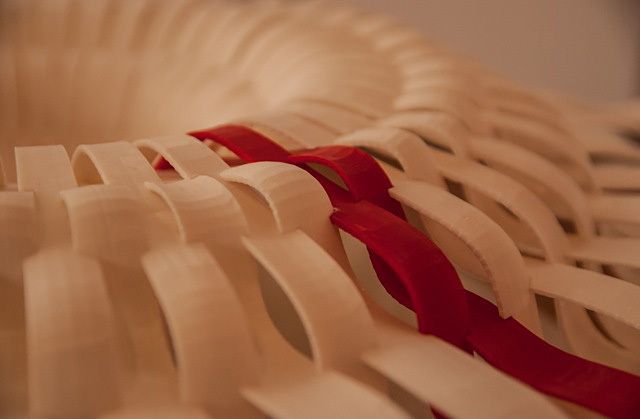 Primitive Parametric- One component of the Primitive Parametric Exhibition which was installed in the Fall of 2013, intending to analyze the use of the Biological Metaphor in Architectural design.