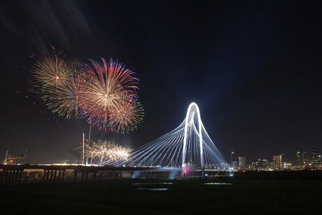 The new Calatrava-designed Margaret Hunt Hill Bridge in Dallas, TX (Photo: Daniel Driensky)