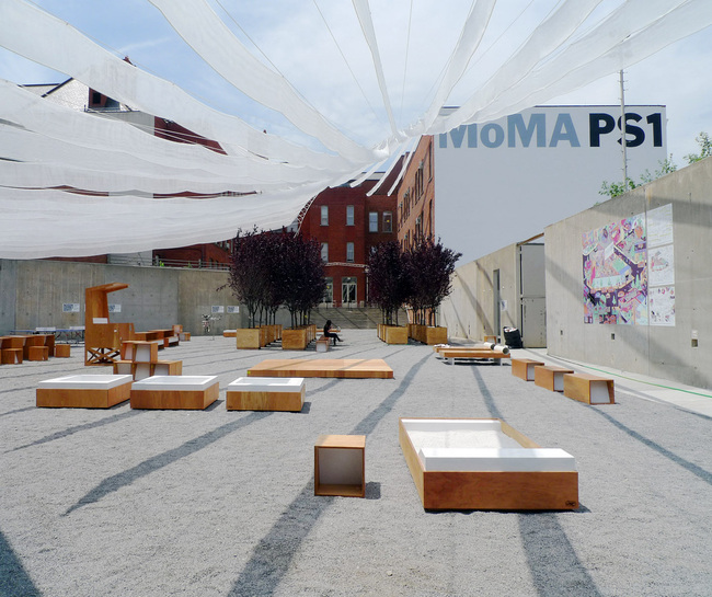 One of the five lucky finalist teams will transform the MoMA PS1 courtyard in summer 2014. Photo: MoMA PS1 Twitter