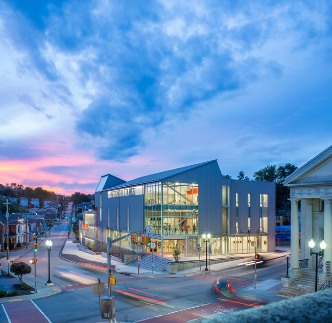 Seton Hill Arts Center, Seton Hill University; Greensburg, PA. Architect: designLAB architects. Associate Architect: BSHM Architects. Photo: Jonathan Hillye