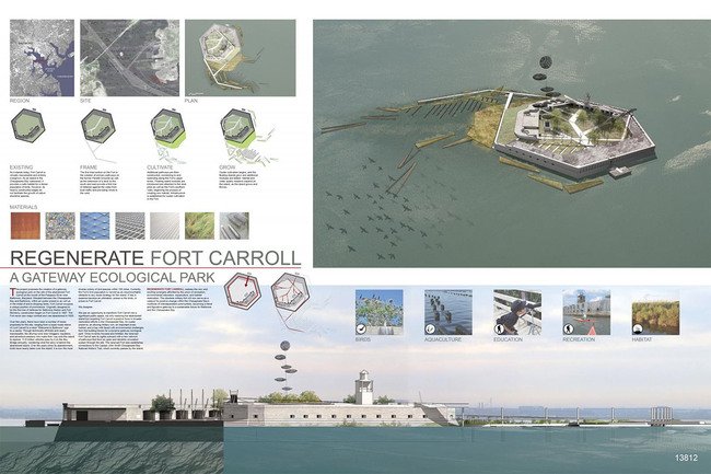 Environmental Impact, Third Place: REGENERATE FT. CARROLL: a gateway ecological park, Baltimore, United States
