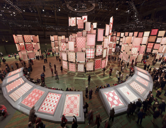 2012 AZ Award Winner - Architecture - Temporary & Demonstration: Infinite Variety: Three Centuries of Red and White Quilts by Thinc Design