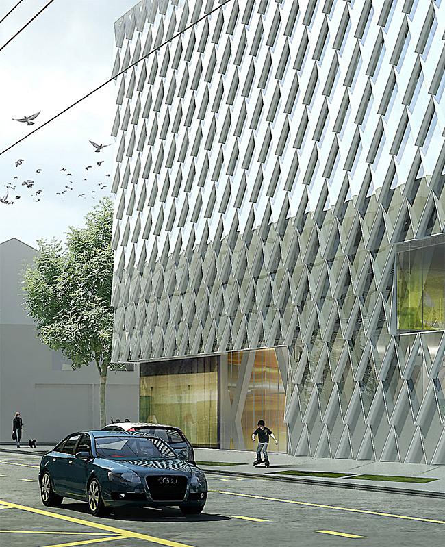 Closeup of the facade (Image: Atelier Zündel & Cristea)