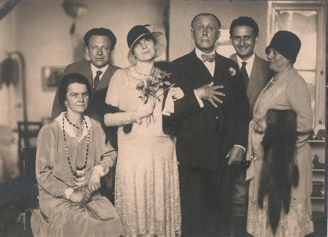 "From ""Adolf Loos, A Private Portrait"": Claire and Adolf Loos at their wedding. Image courtesy of DoppelHouse Press"