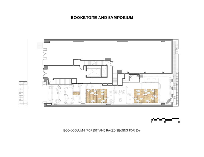 Bookstore and Symposium. Ground/Work Competition Finalist Entry by Of Possible Architectures Image courtesy of OPA.