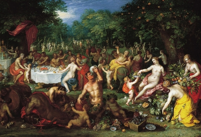 """A Bacchanal"" by Jan Brueghel the Elder and Hendrik van Balen. via wikipedia.com"