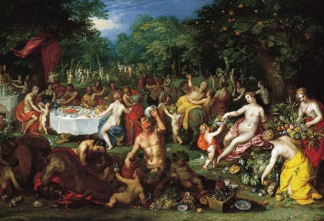 """A Bacchanal"" by Jan Brueghel the Elder and Hendrik van Balen. via wikipedia.com"