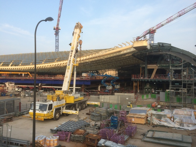The Forum des Halles under construction in 2014, via wikimedia.org