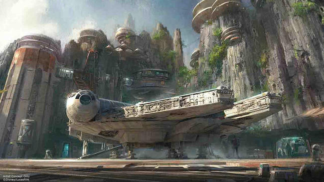 Concept art for the new Star Wars Lands at Disneyland and Disney's Hollywood Studios in Orlando, FL. Credit: Disney