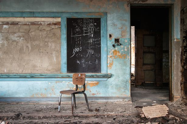 Photographer Johnny Joo has documented dozens of shuttered schools throughout the Eastern U.S. (via mirror.co.uk)