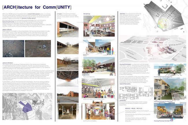 Economic Development, Second Place: [ARCH]itecture for Comm[UNITY], Anniston, Alabama, United States