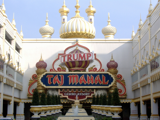 Trump's Taj Mahal in Atlantic City. Photo: Wikipedia.