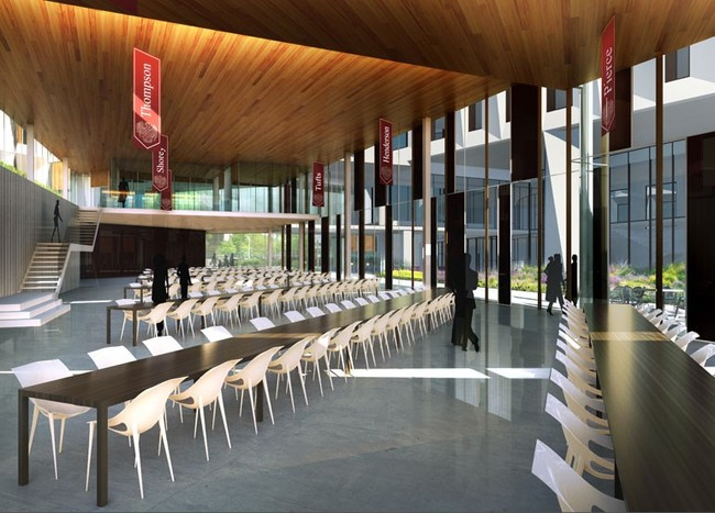 The interior of the new Dining Commons