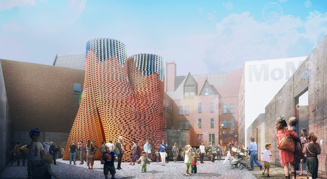 Hy-Fi by David Benjamin of The Living - winner of 2014 Young Architect Program proposal. Image via thelivingnewyork.com