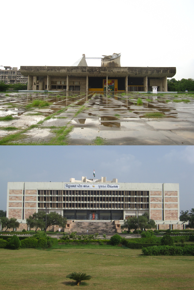 Top: Chandigarh's duality Bottom: Gandhinagar's symmetry