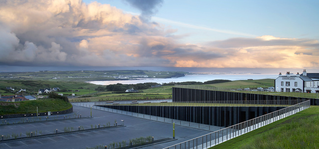 Giant's Causeway Visitor Center, Northern Ireland by heneghan peng architects; Photo: Hufton + Crow