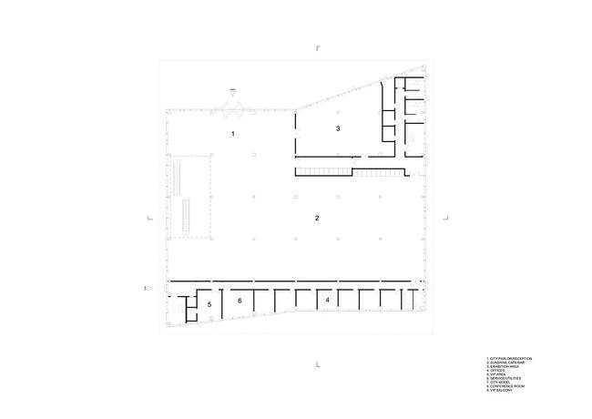 Floor plan, F01 (Image: HENN)