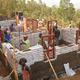 The first EarthBag house under construction in Masoro Village, Rwanda. Photo via Masoro Project Indiegogo page.