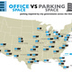Parking Requirements for Office Buildings, courtesy of Graphing Parking.