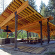 Pine Creek Pavilion in Pine Creek, MT by Artemis Institute