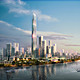 Over 10 million square meters of mixed-use development will be located within walking distance of Baietans subway stations. (Image: SOM |  Crystal CG)