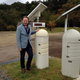 Me at an Iwaki radiation monitoring station