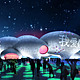 Visualization, plaza at night © MVRDV
