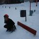 Snow in Rovaniemi, Finland.