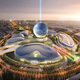 Winning proposal by Adrian Smith+Gordon Gill Architecture for Astana World Expo 2017 competition. Image © Adrian Smith + Gordon Gill Architecture