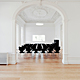 Main floor. Conference room with Grand Prix chairs by Arne Jacobsen. © 2011 – do mal o menos