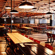 Interior Design: Roman and Williams Buildings and Interiors - Facebook mess hall, Menlo Park, CA, 2011. Photo: Adrian Gaut