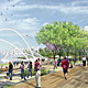 The Pearl River Waterfront Promenade serves as the over-arching organizer that unifies the entire district. (SOM |  Hargreaves Associates)