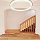 Ground floor. Entrance hall. Interior stairway leading to the main floor. Nimba lamp by Antoni Arola hanging from the ceiling. © 2011 – do mal o menos