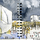Drawing: Yishudao South Entry Plaza. Image: Steven Holl Architects.
